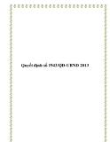 Quyết định số 1943/QĐ-UBND 2013