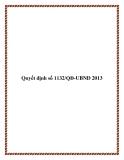 Quyết định số 1132/QĐ-UBND 2013