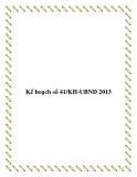 Kế hoạch số 41/KH-UBND 2013