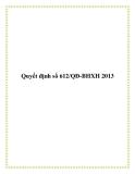 Quyết định số 612/QĐ-BHXH 2013