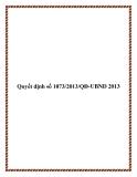 Quyết định số 1073/2013/QĐ-UBND 2013