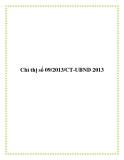 Chỉ thị số 09/2013/CT-UBND 2013