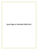 Quyết định số 1963/QĐ-UBND 2013