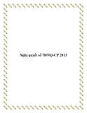 Nghị quyết số 78/NQ-CP 2013