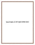 Quyết định 1871/QĐ-UBND 2013