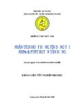 Luận văn: Phân tích hoạt động tín dụng tại Ngân hàng Nông nghiệp và Phát triển Nông thôn huyện Tân Hồng