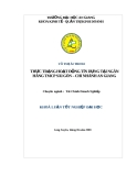 Luận văn tài chính doanh nghiệp: Thực trạng hoạt động tín dụng tại ngân hàng TMCP Sài Gòn – Chi nhánh An Giang