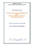 Luận văn kế toán doanh nghiệp: Phân tích tình hình hoạt động tín dụng tại ngân hàng TMCP Đông Á chi nhánh An Giang