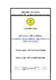 Luận văn: Kế toán tiền lương và phân tích lương tại công ty phà An Giang