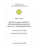 Luận văn kế toán doanh nghiệp: Kế toán xác định và phân tích kết quả hoạt động kinh doanh tại Công ty TNHH cơ khí Kiên Giang
