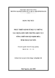 Luận văn Thạc sĩ Kinh tế: Phát triển kinh tế hộ và những tác động đến môi trường khu vực nông thôn huyện Định Hóa tỉnh Thái Nguyên