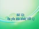 Bài giảng Đạo đức 5 bài 12: Em yêu hòa bình