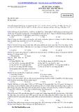Đề thi trắc nghiệm môn hóa học thi thử 2014 lần 1 - Mã đề 289 THPT Nguyễn Du