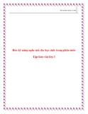 SKKN: Rèn kỹ năng nghe nói cho HS trong phân môn Tập làm văn lớp 3