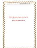SKKN: Một số biện pháp giúp HS lớp 1 học tốt giải Toán có lời văn