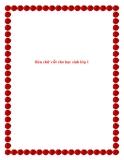 SKKN: Rèn chữ viết cho học sinh lớp 1