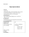 Giáo án bài Thực hành đo độ dài - Toán 3 - GV.Ng.P.Hùng