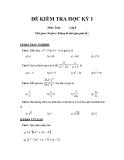 Tổng hợp đề kiểm tra học kì 1 môn Toán lớp 8