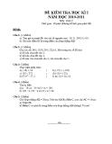 Tổng hợp đề kiểm tra học kì 1 môn Toán lớp 6 năm 2010-2011
