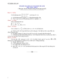 6 Đề kiểm tra HK2 Toán 9 (2011-2012)