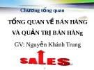 Bài giảng Quản trị bán hàng: Chương tổng quan - GV.Ng.Khánh Trung