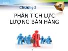 Bài giảng Quản trị bán hàng: Chương 5 - GV.Ng.Khánh Trung