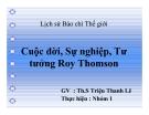 Tiểu luận: Cuộc đời, Sự nghiệp, Tư tưởng Roy Thomson