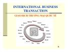 Giao dịch thương mại quốc tế - International Business Transaction