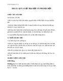 Giáo án Địa lý 10 bài 21: Quy luật địa đới và quy luật phi địa đới