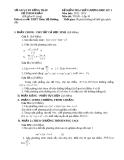 Đề kiểm tra chất lượng HK1 Toán 10 - THPT Thiên Hộ Dương 2012-2013 (kèm đáp án)