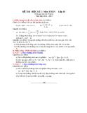 Đề thi HK2 Toán 10 năm 2012-2013 (kèm đáp án)
