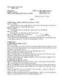 Đề KTCL HK1 Lý 10 - THPT Phan Văn Bảy 2012-2013 (kèm đáp án)