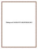 Thông tư số 10/2013/TT-BLĐTBXH 2013