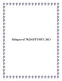 Thông tư số 78/2013/TT-BTC 2013