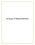 Kế hoạch số 78/KH-UBND 2013