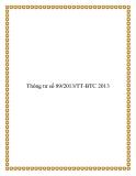 Thông tư số 89/2013/TT-BTC 2013
