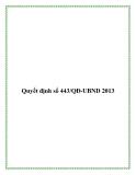 Quyết định số 443/QĐ-UBND 2013