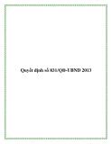 Quyết định số 831/QĐ-UBND 2013