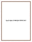 Quyết định số 908/QĐ-UBND 2013