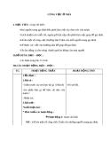 Giáo án bài 13: Công việc ở nhà - Tự nhiên Xã hội 1 - GV.L.K.Chi
