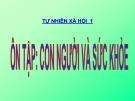 Bài 10: Ôn tập con người và sức khỏe - Bài giảng điện tử Tự nhiên xã hội 1 - L.K.Chi