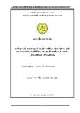 Luận văn: Đánh giá hiệu quả hoạt động tín dụng tại ngân hàng thương mại cổ phần Sài Gòn chi nhánh An Giang