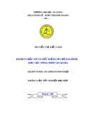 Luận văn tốt nghiệp: Hành vi đầu tư và tiết kiệm của hộ gia đình khu vực nông thôn An Giang