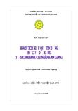 Luận văn: Phân tích hiệu quả tín dụng phục vụ đời sống của Ngân hàng TMCP Sài Gòn Thương Tín - chi nhánh An Giang