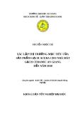 Luận văn: Xác lập thị trường mục tiêu của sản phẩm gạch Acera cho nhà máy gạch Ceramic An giang đến năm 2010