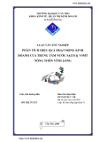 Luận văn tốt nghiệp: Phân tích hiệu quả hoạt động kinh doanh của trung tâm cung cấp nước Vĩnh Long