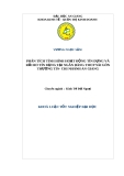 Luận văn: Phân tích tình hình hoạt động tín dụng và rủi ro tín dụng tại ngân hàng TMCP Sài Gòn Thương tín-chi nhánh An Giang