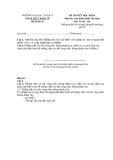Đề thi kết thúc học phần Luật hành chính Việt Nam (Đề thi 02)