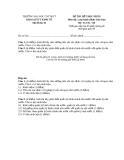 Đề thi kết thúc học phần Luật hành chính Việt Nam (Đề thi 05)