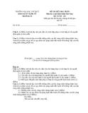 Đề thi kết thúc học phần Luật hành chính Việt Nam (Đề thi 03)